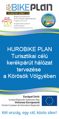 Hurobike Plan Turisztikai célú kerékpárút hálózat tervezése a Körösök Völgyében